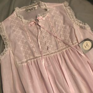 Vintage Christian Dior Pink Sleeveless Nightgown